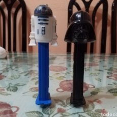 Dispensador Pez: LOTE 2 DISPENSADORES PEZ STAR WARS R2D2 Y DARTH VADER. Lote 111457070