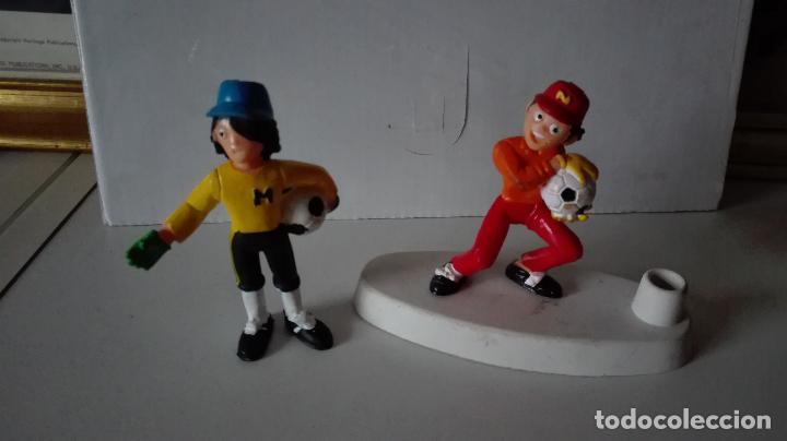LOTE OLIVER Y BENJI. FIGURA + FIGURA PORTABOLIS. YOLANDA COMANSI (Juguetes - Figuras de Goma y Pvc - Comansi y Novolinea)