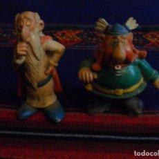 Figuras de Goma y PVC: PANORAMIX DE ASTERIX COMICS SPAIN 1985 Y ABRARACURCIX. 8 CMS.. Lote 111541247