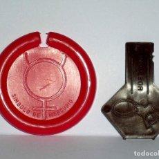 Figuras de Goma y PVC: MERCURIO *ROJO* DISCO PLATILLO SPACE, INCLUYE IMPULSOR, DUNKIN O SIMILAR, ORIGINAL AÑOS 70.. Lote 111581543