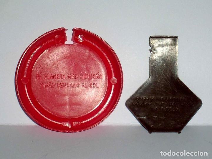 Figuras de Goma y PVC: Mercurio *rojo* Disco Platillo Space, incluye impulsor, Dunkin o similar, original años 70. - Foto 2 - 111581543