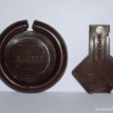 Figuras de Goma y PVC: AURORA 7 *MARRÓN* DISCO PLATILLO SPACE, INCLUYE IMPULSOR, DUNKIN O SIMILAR, ORIGINAL AÑOS 70.. Lote 111582099