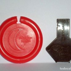 Figuras de Goma y PVC: LA LUNA *NARANJA INTENSO* DISCO PLATILLO SPACE, INCLUYE IMPULSOR, DUNKIN O SIMILAR, ORIGINAL AÑOS 70. Lote 111585503