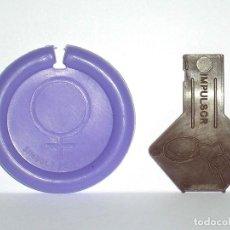 Figuras de Goma y PVC: VENUS *LILA CLARO* DISCO PLATILLO SPACE, INCLUYE IMPULSOR, DUNKIN O SIMILAR, ORIGINAL AÑOS 70. Lote 111585695