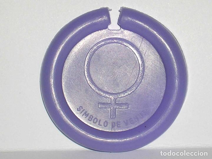 Figuras de Goma y PVC: Venus *lila claro* Disco Platillo Space, incluye impulsor, Dunkin o similar, original años 70 - Foto 3 - 111585695