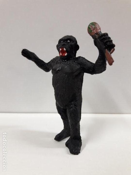 Figuras de Goma y PVC: GORILA CON RAMA . REALIZADO POR TEIXIDO . AÑOS 50 EN GOMA - Foto 3 - 111629079