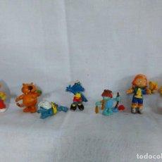 Figuras de Goma y PVC: LOTE DE SIETE 7 MUÑECOS, ANTIGUAS FIGURAS DE GOMA Y PVC DE SERIES INFANTILES.. Lote 114734592