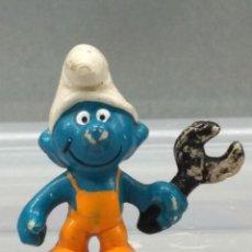Figuras de Goma y PVC: FIGURA PVC PITUFOS PITUFO MECANICO PEYO. Lote 111807511