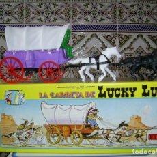 Figuras de Goma y PVC: LA CARRETA DEL OESTE DE LUCKY LUKE DE JUGUETES COMASI..CAJA ORIGINAL... Lote 111851755