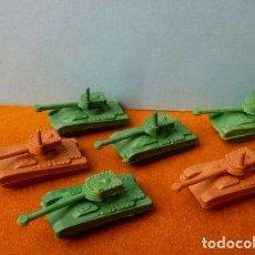 Figuras de Goma y PVC: 6 TANQUES BODY MONTAPLEX - FIGURAS DE PLASTICO MINIATURA PREMIUM (AÑOS 70) KIOSCO QUIOSCO SOLDADOS. Lote 111909695