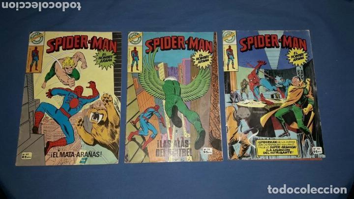 LOTE 3 COMICS SPIDERMAN N°42-58-66 EDICION BRUGUERA 1978 (Juguetes - Figuras de Goma y Pvc - Comics Spain)