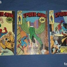 Figuras de Goma y PVC: LOTE 3 COMICS SPIDERMAN N°42-58-66 EDICION BRUGUERA 1978. Lote 112059179