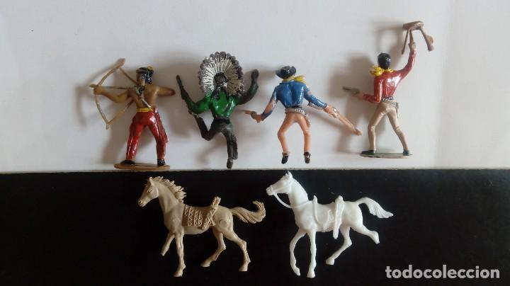 Figuras de Goma y PVC: COMANSI 2ª ÉPOCA: LOTE OESTE DE INDIOS Y COWBOYS/VAQUEROS + 2 CABALLOS. ORIGINALES AÑOS 70. PTOY - Foto 3 - 112059595