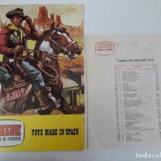 Figuras de Goma y PVC: CATALOGO DE JUGUETES Y TARIFA DE PRECIOS DE LA FABRICA COMANSI . ORIGINAL DE LOS AÑOS 70. Lote 112114187