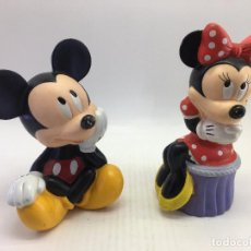 Figuras de Goma y PVC: HUCHAS PLASTICO DURO - PVC DE MICKEY Y MINI DE DISNEY. Lote 112216247