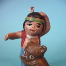 Figurines en Caoutchouc et PVC: EL BOSQUE DE TALLAC JAKIE Y NUCA SENDA FIGURA DE PVC DE 7 CM EURA SPAIN NIPPON. Lote 112261083