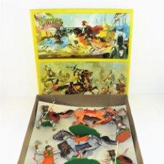 Figuras de Goma y PVC: COMANSI TORNEO CAJA COMPLETA. Lote 128840415