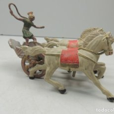 Figuras de Goma y PVC: CUADRIGA DE BEN -HUR EN GOMMA DE REAMSA ORIGINAL DE LOS AÑOS 50 DE LA SERIE BEN -HUR. Lote 112285635