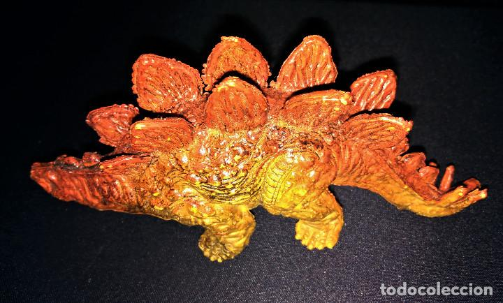 Figuras de Goma y PVC: Figura Dinosaurio Stegosaurus U.K.R.D. NO. 2022249 1992 14cm largo UKRD - Foto 3 - 112503303