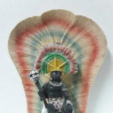 Figuras de Goma y PVC: REY - JEFE NEGRO KAKUANA . REALIZADO POR PECH . SERIE SAFARI . AÑOS 50 EN GOMA . TRONO NO INCLUIDO. Lote 112547523