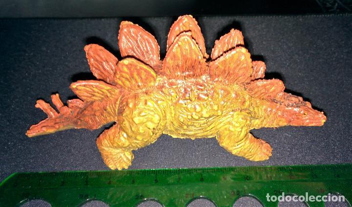 Figuras de Goma y PVC: Figura Dinosaurio Stegosaurus U.K.R.D. NO. 2022249 1992 14cm largo UKRD - Foto 2 - 112503303