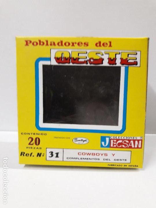 Figuras de Goma y PVC: CAJA POBLADORES DEL OESTE - REF Nº 31. REALIZADA POR JECSAN . AÑOS 60 / 70 - Foto 7 - 112726775