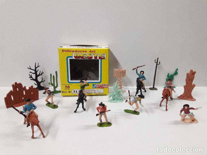 Figuras de Goma y PVC: CAJA POBLADORES DEL OESTE - REF Nº 31. REALIZADA POR JECSAN . AÑOS 60 / 70 - Foto 10 - 112726775
