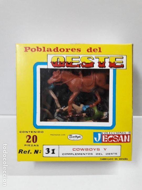 Figuras de Goma y PVC: CAJA POBLADORES DEL OESTE - REF Nº 31. REALIZADA POR JECSAN . AÑOS 60 / 70 - Foto 11 - 112726775