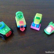 Figuras Kinder: 4 ANTIGUOS VEHÍCULOS KINDER. PRIMERA ÉPOCA.. Lote 112787243