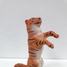 Figuras de Goma y PVC: TIGRE SENTADO - SERIE CIRCO . REALIZADO POR JECSAN . ORIGINAL AÑOS 50 EN GOMA. Lote 112804347