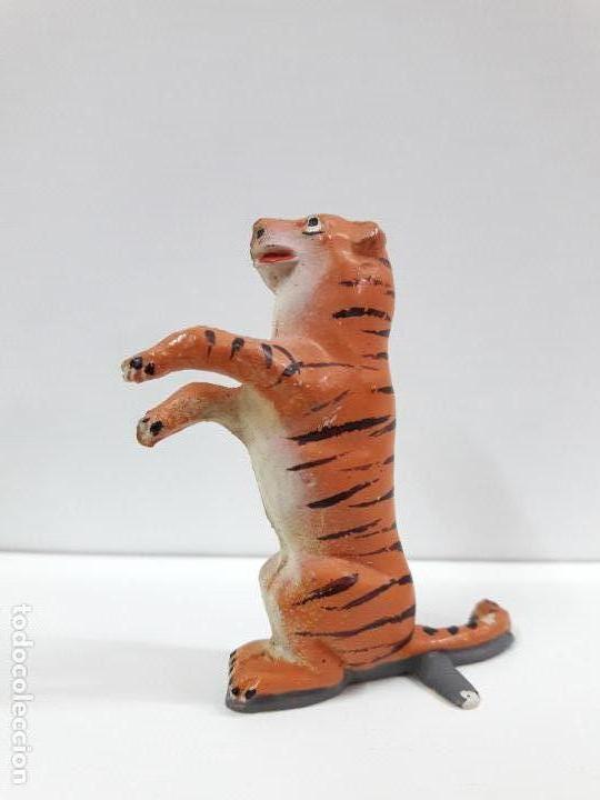 Figuras de Goma y PVC: TIGRE SENTADO - SERIE CIRCO . REALIZADO POR JECSAN . ORIGINAL AÑOS 50 EN GOMA - Foto 2 - 112804347