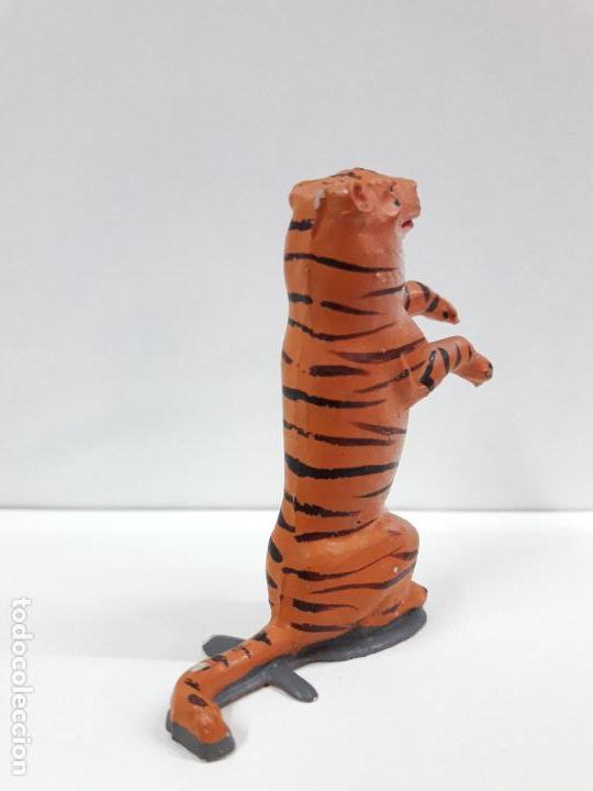 Figuras de Goma y PVC: TIGRE SENTADO - SERIE CIRCO . REALIZADO POR JECSAN . ORIGINAL AÑOS 50 EN GOMA - Foto 4 - 112804347