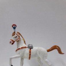 Figuras de Goma y PVC: CABALLO PARA LA MUJER EQUILIBRISTA . SERIE CIRCO . REALIZADO POR JECSAN . AÑOS 50 EN GOMA. Lote 112804859