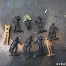 Figuras de Goma y PVC: LOTE AFRICANOS CAZADORES TARZAN JECSAN. Lote 112807891