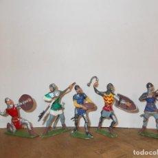 Figuras de Goma y PVC: COMANSI : LOTE ( 1 ) DE 5 CABALLEROS SOLDADOS MEDIEVALES. SERIE 9 CM. PTOY. Lote 113028315