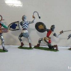 Figuras de Goma y PVC: COMANSI : LOTE ( 2 ) DE 5 CABALLEROS SOLDADOS MEDIEVALES. SERIE 9 CM. PTOY. Lote 113079491