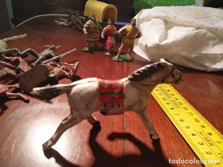 MUÑECO FIGURA GOMA INDIO OESTE BAQUERO CABALLO CAPITAN TRUENO / JABATO COMANSI / O SIMILAR VER FOTO (Juguetes - Figuras de Goma y Pvc - Otras)