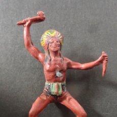 Figuras de Goma y PVC: PECH INDIO A CABALLO. Lote 113345171
