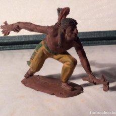 Figuras de Goma y PVC: PECH-INDIO, SERIE PEQUEÑA. Lote 113507119