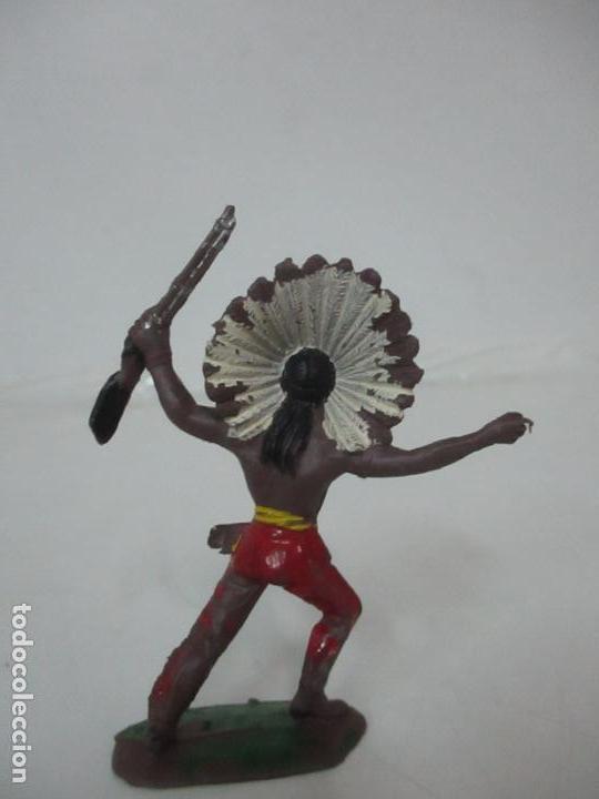 Figuras de Goma y PVC: Figura Guerrero Indio, con Rifle - Marca Jecsan - Años 60-70 - Foto 5 - 113606843
