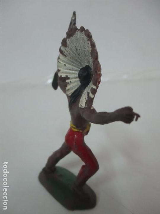 Figuras de Goma y PVC: Figura Guerrero Indio, con Rifle - Marca Jecsan - Años 60-70 - Foto 6 - 113606843