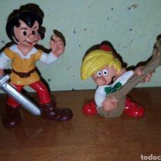 Figuras de Goma y PVC: LOTE FIGURAS PVC GOMA JOHAN AND PIRLOUIT DE LOS PITUFOS PEYO SCHLEICH DEL 78 MUÑECOS DIBUJOS. Lote 143222976