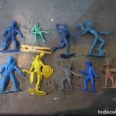 Figuras de Goma y PVC: LOTE INDIOS VAQUEROS PIPEROS JECSAN REAMSA PECH. Lote 114101143