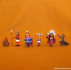 Figuras de Goma y PVC: 6 FIGURAS DUNKIN DE LUXE. WICKIE / VICKIE / VICKY EL VIKINGO. POLÍCROMAS.. Lote 114156447