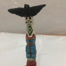 Figuras de Goma y PVC: PECH TOTEM INDIO EN GOMA AÑOS 50. Lote 114210863