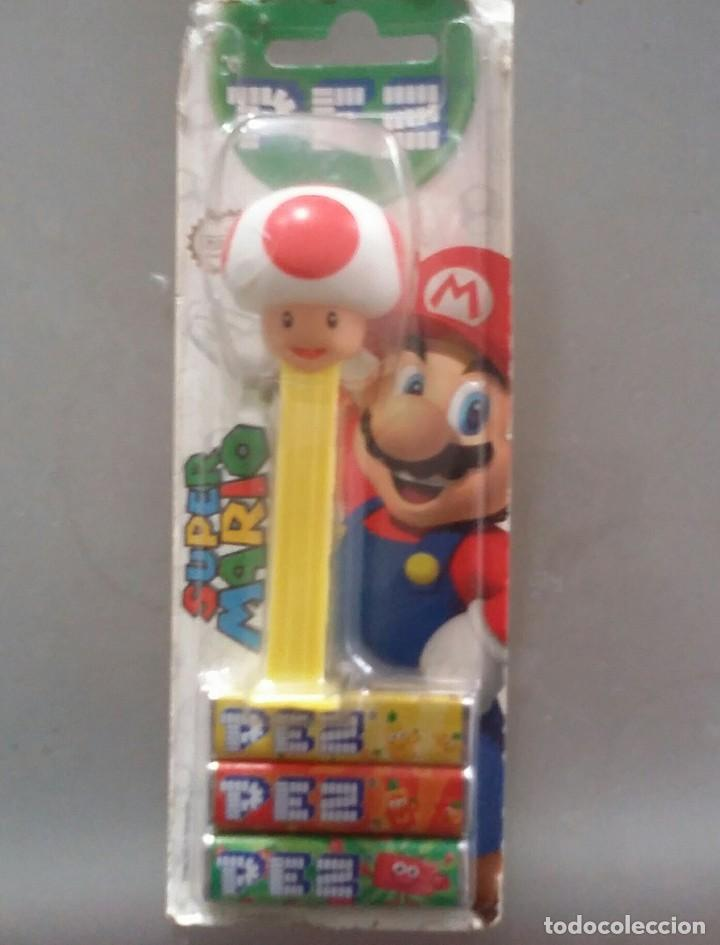 Dispensador Pez: DISPENSADOR DE CARAMELOS PEZ . TOAD DE SUPER MARIO BROS. NUEVO EN BLISTER - Foto 1 - 114240475