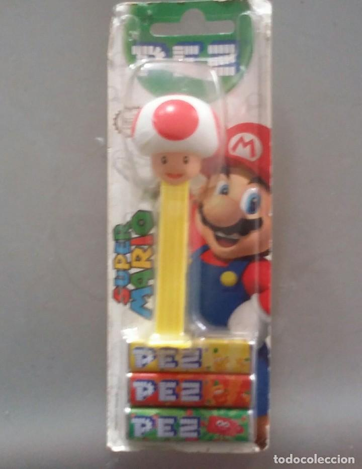 Dispensador Pez: DISPENSADOR DE CARAMELOS PEZ . TOAD DE SUPER MARIO BROS. NUEVO EN BLISTER - Foto 2 - 114240475