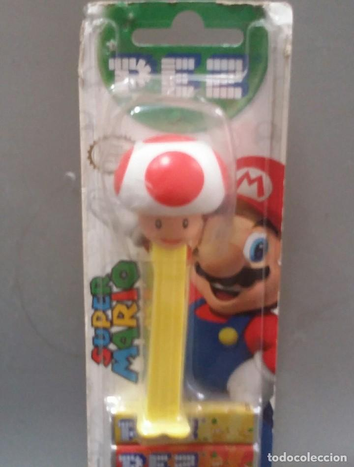 Dispensador Pez: DISPENSADOR DE CARAMELOS PEZ . TOAD DE SUPER MARIO BROS. NUEVO EN BLISTER - Foto 3 - 114240475