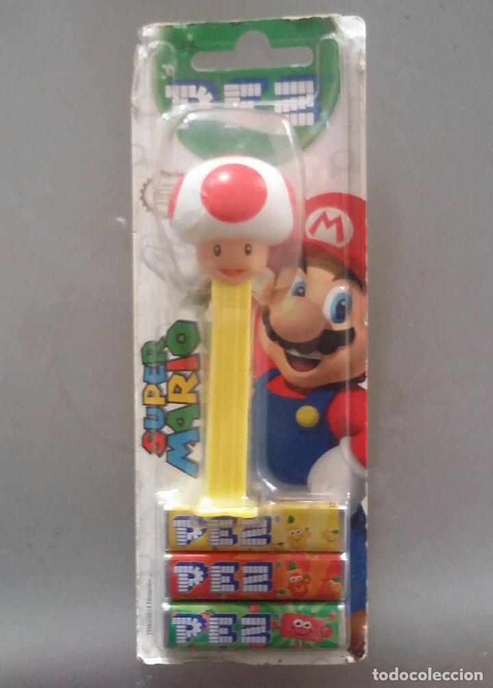 Dispensador Pez: DISPENSADOR DE CARAMELOS PEZ . TOAD DE SUPER MARIO BROS. NUEVO EN BLISTER - Foto 4 - 114240475