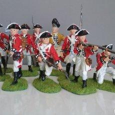 Figuras de Goma y PVC: SOLDADOS BRITÁNICOS GUERRA INDEPENDENCIA AMERICANA AWI , ACCURATE FIGURES EN ESCALA BRITAINS. Lote 114295035